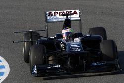 Pastor Maldonado, Williams, running a measuring device