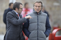 Stefano Domenicali Ferrari General Director and Luca di Montezemolo, Scuderia Ferrari, FIAT Chairman and President of Ferrari
