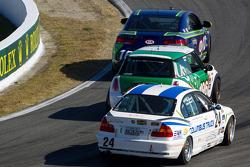 #10 Kinetic Motorsports KIA Forte Koup: Nic Jonsson, Andy Lally, #196 RSR Motorsports Mini Cooper S: Ron Farmer, Jason Hart, #24 V-Pack Motorsport BMW 330: Ray Mason, Adam Pecorari