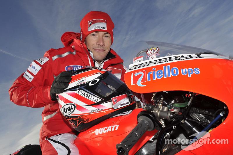 Nicky Hayden, Ducati at the Ducati Desmosedici GP11 presentation