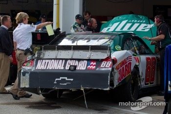 Dale Earnhardt Jr., Hendrick Motorsports Chevrolet after crashing