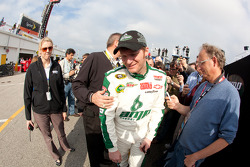 Dale Earnhardt Jr., Hendrick Motorsports Chevrolet talks to the media after crashing