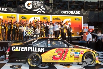 Victory lane: race winner Jeff Burton, Richard Childress Racing Chevrolet celebrates