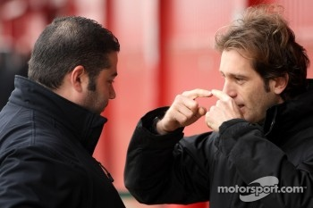 Jarno Trulli, Team Lotus with the Bell technician