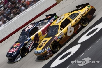 David Ragan, Roush Fenway Racing Ford and Kasey Kahne, Red Bull Racing Team Toyota