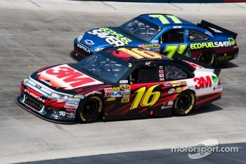 Greg Biffle, Roush Fenway Racing Ford and Andy Lally, TRG Motorsports Chevrolet