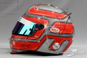 Helmet of Vitantonio Liuzzi, Hispania Racing Team, HRT