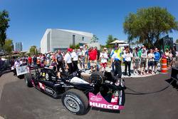 Car of Justin Wilson, Dreyer & Reinbold Racing taken the pitlane
