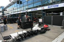 McLaren pits