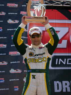 Podum: third place Tony Kanaan, KV Racing Technology-Lotus