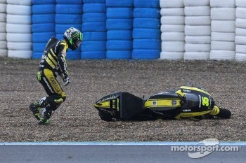 Cal Crutchlow, Monster Yamaha Tech 3 crashes