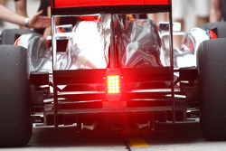 Lewis Hamilton, McLaren Mercedes rear diffuser