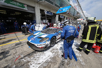 WEC Photos - #67 Ford Chip Ganassi Racing Team UK Ford GT: Marino Franchitti, Andy Priaulx, Harry Tincknell, après un incendie