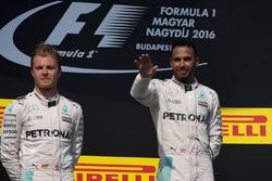 Lewis Hamilton, Mercedes, Nico Rosberg, Mercedes on the podium