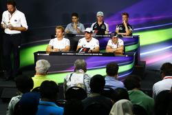 FIA Pressekonferenz: Esteban Ocon, Manor Racing; Nico Hulkenberg, Sahara Force India F1; Daniil Kvyat, Scuderia Toro Rosso; Nico Rosberg, Mercedes AMG F1; Jenson Button, McLaren; Felipe Massa, Williams