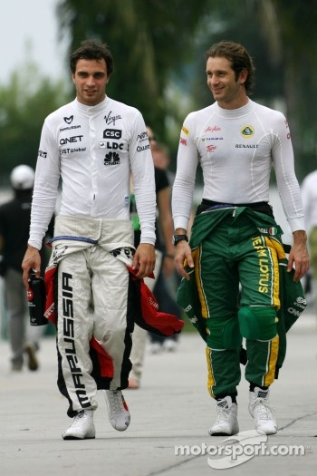 Jerome d'Ambrosio, Virgin Racing and Jarno Trulli, Team Lotus