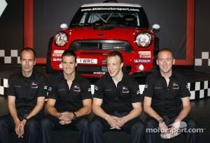 The MINI John Cooper Works WRC with Carlos del Barrio, Daniel Sordo, Kris Meeke and Paul Nagle