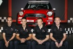 The MINI John Cooper Works WRC with Carlos del Barrio, Daniel Sordo, Kris Meeke and Paul Nagle