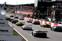 The start for the pace lap