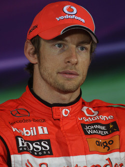 Second place Jenson Button, McLaren Mercedes