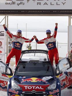 Podium: rally winners Sébastien Ogier and Julien Ingrassia