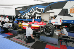 Tech inspection for Newman Haas Racing car