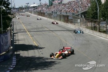 First lap: Sébastien Bourdais leads the field