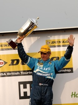 Round 9 race winner Jason Plato, Silverline Chevrolet