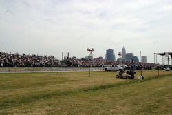 View of the grandstands
