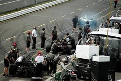 CTE Racing-HVM pit area