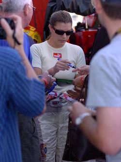 Katherine Legge signs autographs