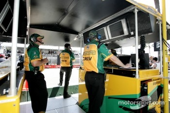 Team Australia pit box.