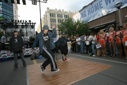 John Street party: breakdancers get up and do their thing