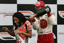 Podium: Sébastien Bourdais sprays champagne