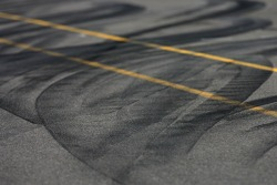Tire marks on pitlane
