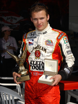 Dan Wheldon receives Speed driver of the year award