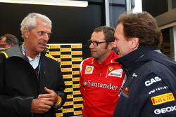 Marco Tronchetti Provera, president of Pirelli, Christian Horner, Red Bull Racing, Sporting Director and Stefano Domenicali, Scuderia Ferrari Sporting Director