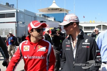 Felipe Massa, Scuderia Ferrari, Michael Schumacher, Mercedes GP F1 Team