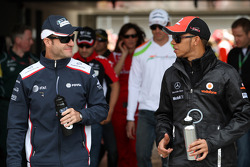 Rubens Barrichello, AT&T Williams, Lewis Hamilton, McLaren Mercedes