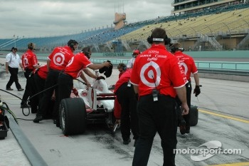 Ganassi Racing crew members at work