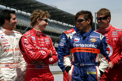 Larry Foyt, Ryan Briscoe, Kosuke Matsuura and Scott Dixon