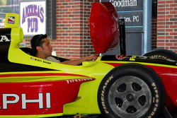 A fan tries the IRL racing sim