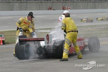 Scott Dixon in trouble