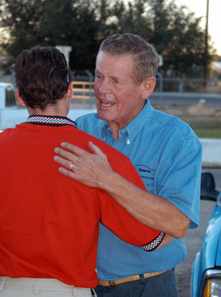 Bobby Unser greets Al Unser III