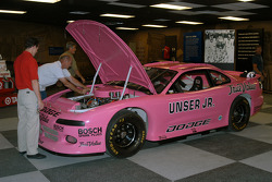 Al Unser, Jr.'s IROC Dodge Avenger arrives