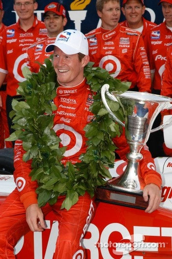 Scott Dixon wins the Inaugural IRL race at Watkins Glen