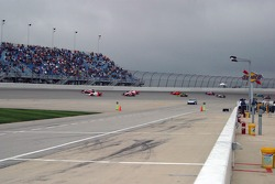 Dark clouds threaten as the race begins