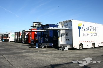 Team transporters in Gasoline Alley