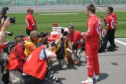 Pole winner Dan Wheldon