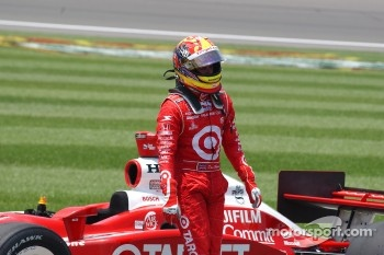 Dan Wheldon after finishing second